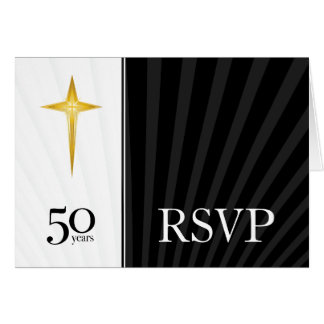 RSVP 50 Year Church Anniversary Cards