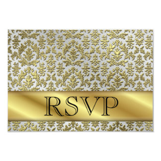 RSVP 50th Gold Anniversary Card Personalized Invite