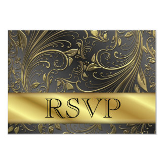 RSVP 50th Gold Anniversary Card Invitations