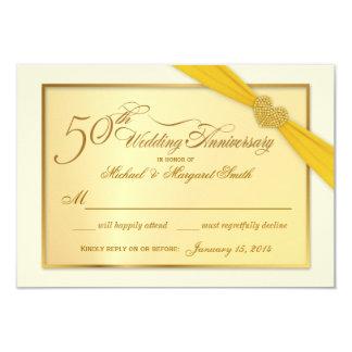 RSVP - 50th Golden Anniversary Invitations