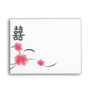 RSVP A2 Envelope Cherry Blossom Double Happiness