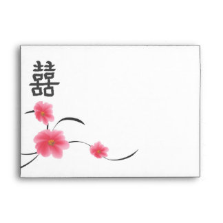 RSVP A7 Envelope Cherry Blossom Double Happiness