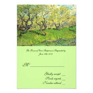 RSVP, acceptance card, Orchard in Blossom Personalized Invitation
