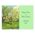 RSVP, acceptance card, Orchard in Blossom Post Card