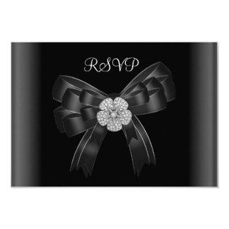 RSVP All Occasions Diamond Jewel Black Bow Card