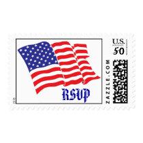 RSVP/American Flag Postage