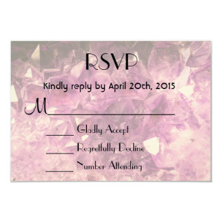 RSVP Amethyst Gemstone Image Shiny and Sparkly Card