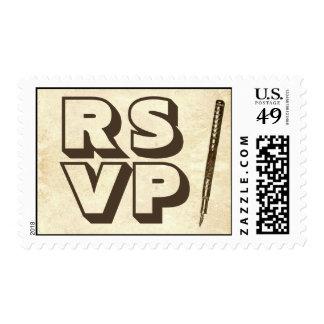 RSVP antiguo envejecido vintage que casa sellos