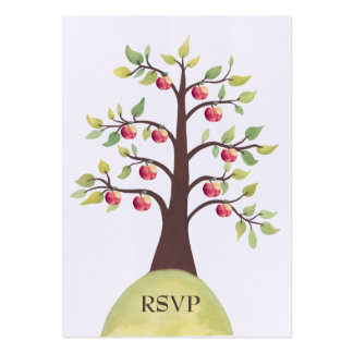 RSVP Apple Tree Watercolor Nature Wedding Cards Business Card Templates