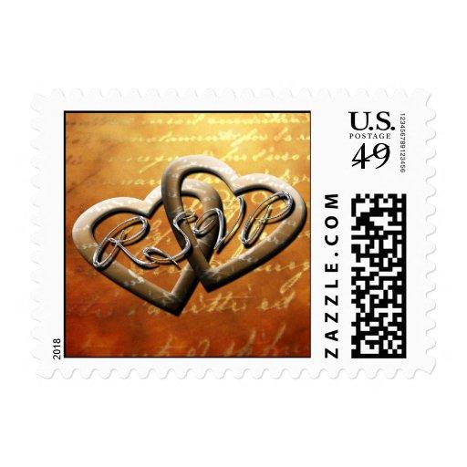 RSVP Autumn Hearts Postage Stamp