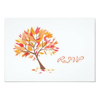 RSVP Autumn Theme Wedding Card
