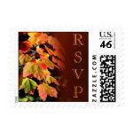 RSVP Autumn Wedding Postage Stamp stamp