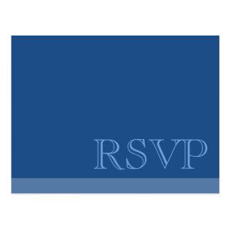 RSVP azul básico simple mínimo Tarjetas Postales