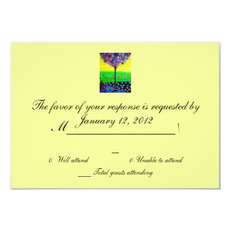 RSVP Bar Bat Mitzvah 3.5x5 Paper Invitation Card