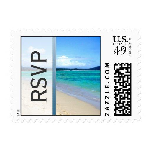 RSVP Beach Destination Wedding Postage