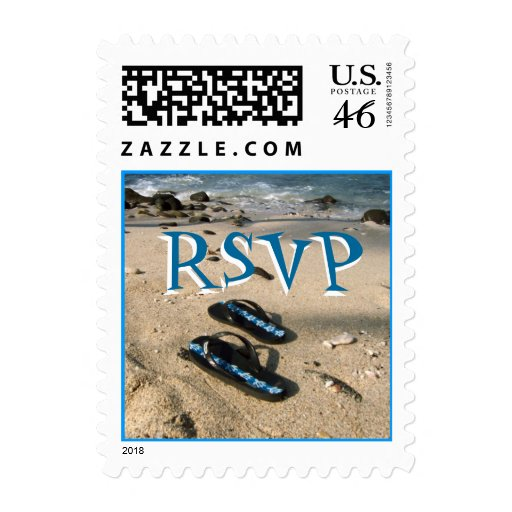 RSVP Beach Flip Flop Sandals Postage Stamp