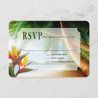 RSVP Beach Palm Tree Bird of Paradise