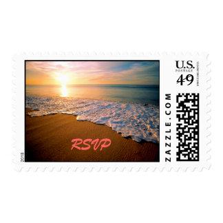 RSVP Beach Wedding Postage