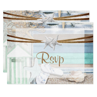 RSVP Beachfront Wedding Card