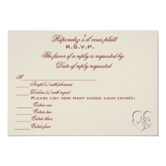 RSVP/Because Two People Fell In Love Card