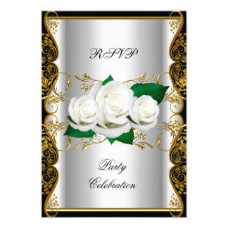 RSVP Birthday Party Elegant Any Event Party White Invites