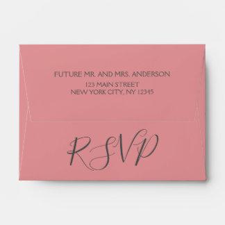 RSVP Birthday Rose Gold Pink Glitter Envelope