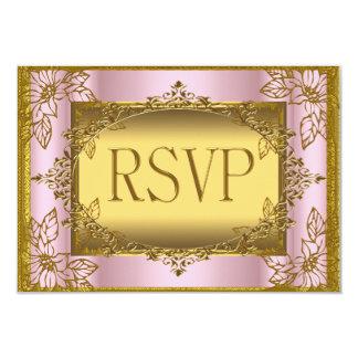 "RSVP Birthday Wedding Engagement Anniversary 3.5"" X 5"" Invitation Card"