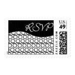 RSVP Black and White Swirl Postage