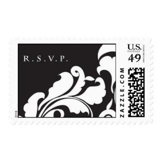 RSVP Black Damask Stamp