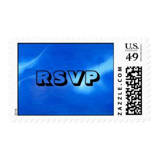 RSVP Black On Blue Stamp