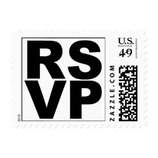 RSVP (Black on White) Postage