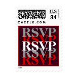 RSVP blanco de plata rojo W11 que se casa moderno Franqueo