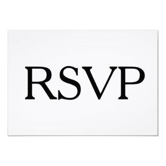 """RSVP blanco y negro simple y opción de la entrada Invitación 3.5"""" X 5"""""""