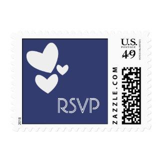 RSVP Blue Heart Postage