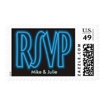RSVP Blue Neon Medium Postage