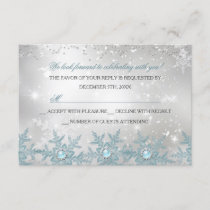 RSVP Blue Pearl Snowflake Christmas Party