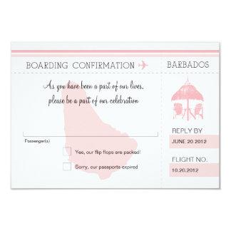 RSVP Boarding Pass TO BARBADOS Card