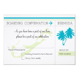 RSVP Boarding Pass TO BERMUDA Card