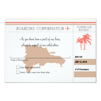 RSVP Boarding Pass TO Dominican Republic | CORAL Card