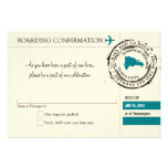 RSVP Boarding Pass TO Dominican Republic Announcement