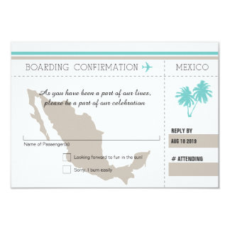 RSVP Boarding Pass TO MEXICO Card