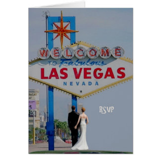 RSVP Bride & Groom Las Vegas Card