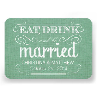 RSVP Burlap Mint Green Rustic Deluxe Reply Personalized Invites