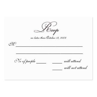 RSVP BUSINESS CARD TEMPLATES