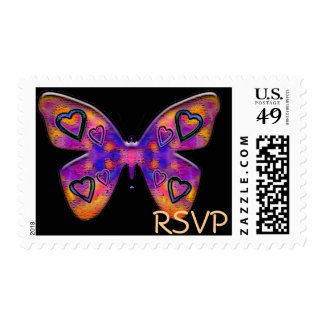rsvp butterfly postage
