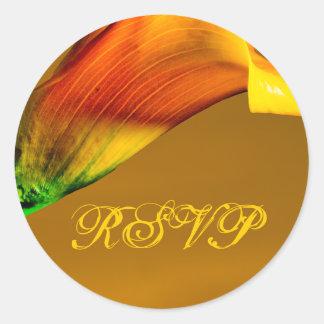 RSVP Cala Lily Fall Envelope Seal Sticker