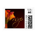 RSVP Calla Lily Wedding Postage stamp