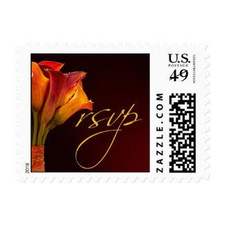 RSVP Calla Lily Wedding Postage