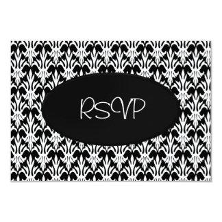 RSVP Card All Events Elegant Black White Floral