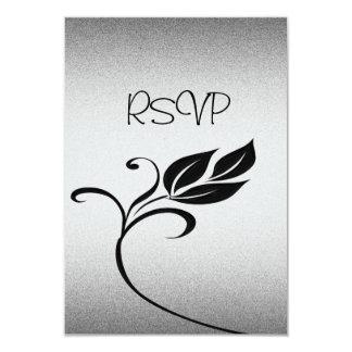 RSVP Card All Events Elegant Silver Black Floral
